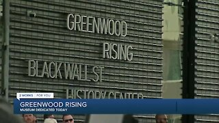 Greenwood Rising dedication in Black Wall Street