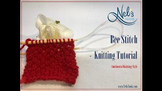 Bee Stitch Pattern Tutorial for Beginners - Continental Knitting