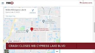 TRAFFIC ALERT: Crash closes westbound lanes of Cypress Lake Blvd. between Winkler and Summerlin