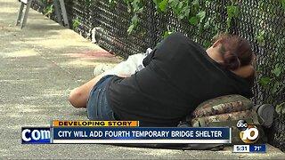 City to add fourth temporary bridge shelter