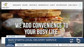 South Bay man starts Bagged n' Brought food delivery service