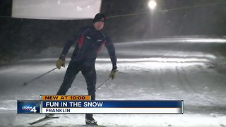 Snow lovers rejoice in the first snowfall of the season