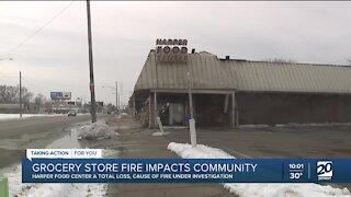 Grocery store fire in Detroit