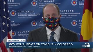 """News conference: Polis urges Coloradans to wear a cloth mask """"at all times"""" in public"""