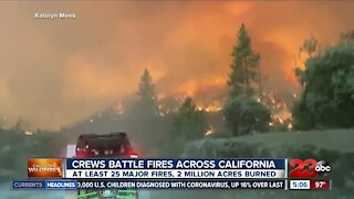 Crews battle fires across California
