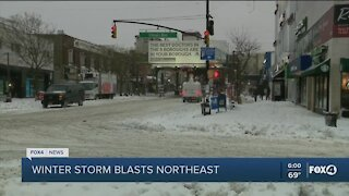 Northeast snow storms, Tampa tornadoes