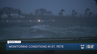 Storm conditions continue at St. Pete Pier