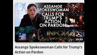 Assange Spokeswoman Calls for Trump's Action on Pardon