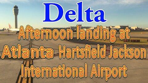 Delta flight landing at Hartsfield-Jackson Atlanta International Airport (ATL)