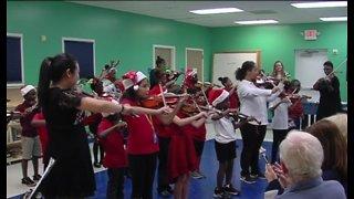 Boys and Girls Club children perfrom first violin recital