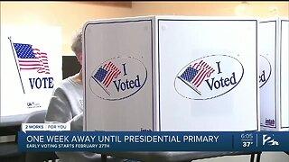 One Week Away Until Presidential Primary