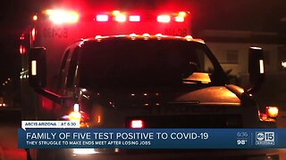Family of five tests positive for COVID-19