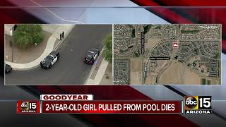 2-year-old girl dies after pulled from Goodyear pool