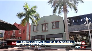Historic building set to be demolished in downtown Fort Myers