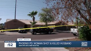 PD: Woman arrested after allegedly shooting, killing husband at north Phoenix home