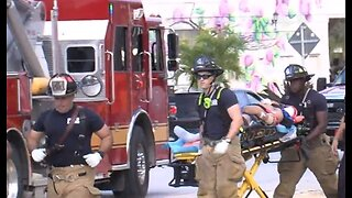 Worker rescued after construction accident