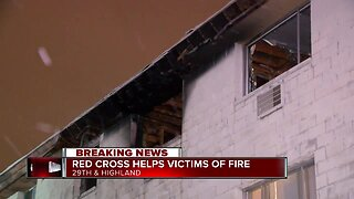 Red cross helps victims following apartment fire