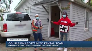 Couple moves into rental home, then learns it's all a scam
