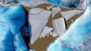 Drone Captures Stunning Footage Of Icelandic Glacier