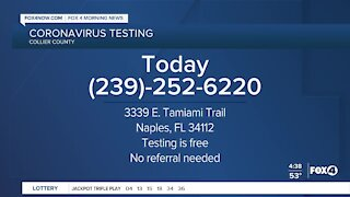 Coronavirus testing in Collier County