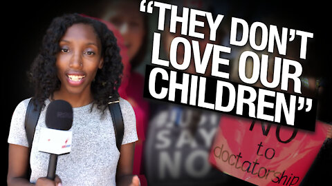 """It's tyrannical to coerce children"": Protect Our Children protestor on vaccine propaganda"