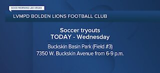 LVMPD hosts tryouts for Bolden Lions Football Club