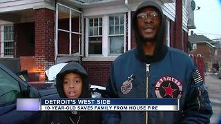 Detroit 10-year-old saves family, dogs after home catches on fire