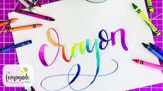 Calligraphy with Crayons, Faux Calligraphy, Hand Lettering Tutorial