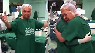 Doctor enables man to see again after 19 years