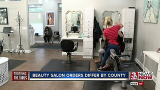 Beauty salon orders differ by county