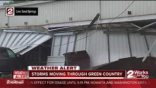 Wind gusts cause damage in Sand Springs