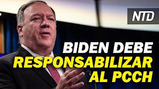 Pompeo: Biden debe responsabilizar al PCCh; Discurso de candidata de Biden provoca controversia  NTD