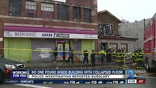 No one found inside building with collapsed floor