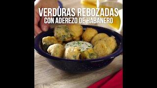 Battered Vegetables with Habanero Dressing