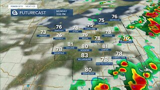 Trent Magill gives update on second round of afternoon storms