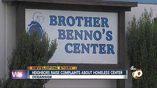 Neighbors raise complaints about homless center