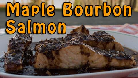 Dutch Oven Maple Bourbon Salmon