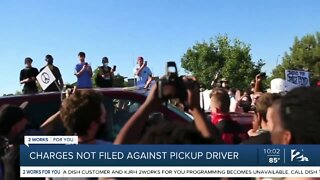 Charges not filed against pickup driver