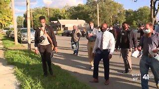 KCMO Mayor Lucas tours Lykins Neighborhood to gather input for crime plan