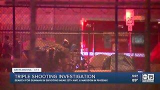 Three people shot in downtown Phoenix