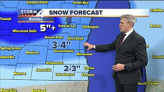 Flurries tonight and Saturday, wet snow and windy on Sunday