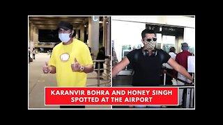 Karanvir Bohra and Honey Singh Spotted at the Airport   SpotboyE