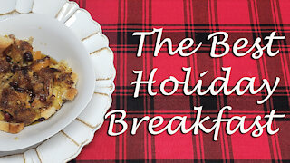 Cranberry Orange French Toast Casserole ~ Holiday Breakfast