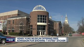 """Henry Ford Museum offering free admission for showing """"I Voted"""" sticker"""
