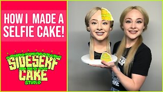 Incredibly talented artist makes a selfie cake