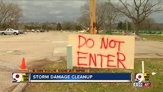 Thursday storms create a weekend of cleaning up