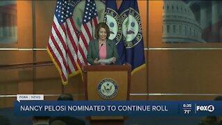 Pelosi Nominated to continue as Speaker