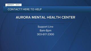 Aurora Mental Health offers support line