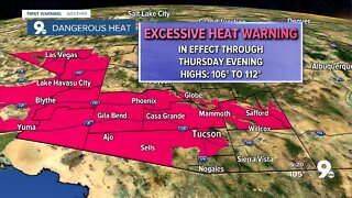 Excessive Heat Warnings remain in effect through Thursday evening