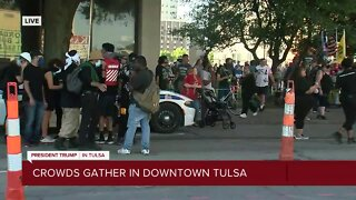 Protesters gather in downtown Tulsa